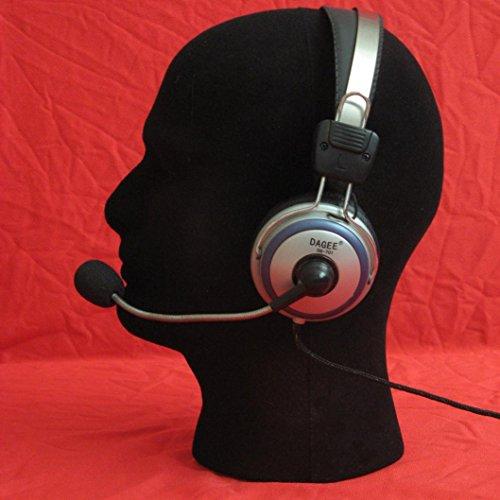 Foam Wig Head (Male),Iusun Styrofoam Mannequin Manikin Head Model Foam Wig Hair Glasses Hat Cap Display Stand (1, Black)