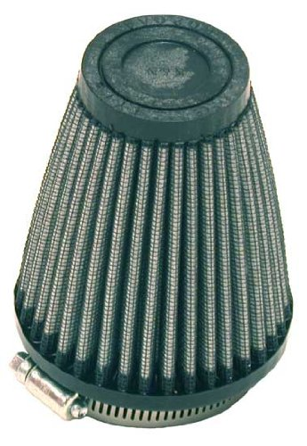 K&N R-1260 Universal Clamp-On Air Filter: Round Tapered; 2.25 in (57 mm) Flange ID; 4 in (102 mm) Height; 3.5 in (89 mm) Base; 2 in (51 mm) Top