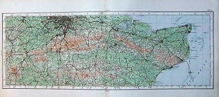 Map Of England Dover.Ordnance Survey Map 1922 England Dover Guildford Hythe Amazon Co Uk