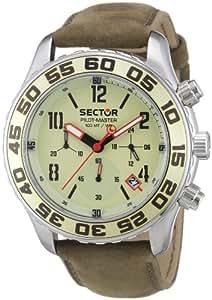 Sector Pilot Master R3271679065 - Reloj de caballero de cuarzo, correa de piel color marrón