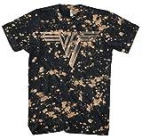 Van Halen - Classic Logo Bleach Dye - Adult T-Shirt