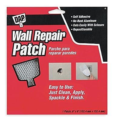DAP Wall Repair Patch, Self-Adhesive, 6 x 6 In - 9146