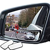 WildAuto Rectangle Blind Spot Mirrors,2Pcs Universal Wide Angle Rear Side View Spot Mirror for Cars,Easy to Install