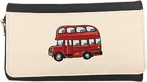 محفظة مصنوعة من الجلد  بتصميم حافلة بدورين