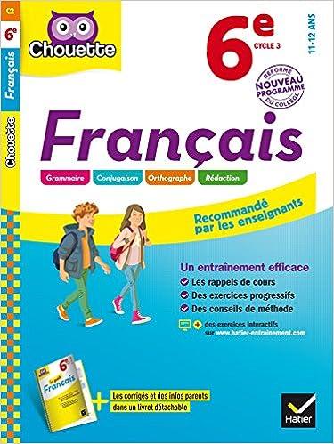 Amazon Fr Francais 6e Cahier D Entrainement Et De