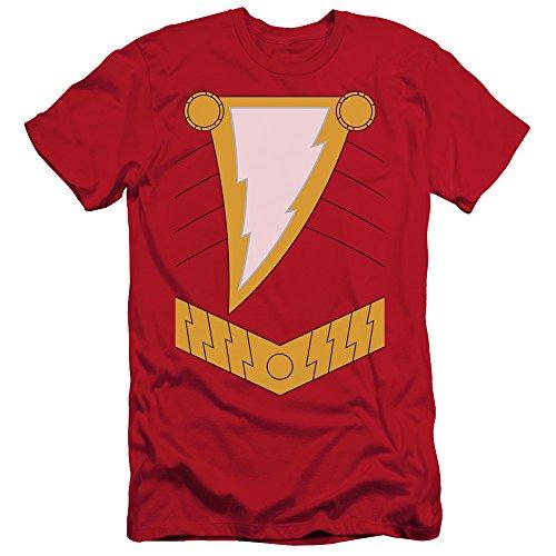 Shazam Costumes (Justice League Of America DC Comics Shazam Armor Costume Adult Slim T-Shirt)