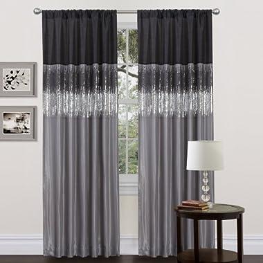 Lush Decor Night Sky Curtain Panel, Black/Gray