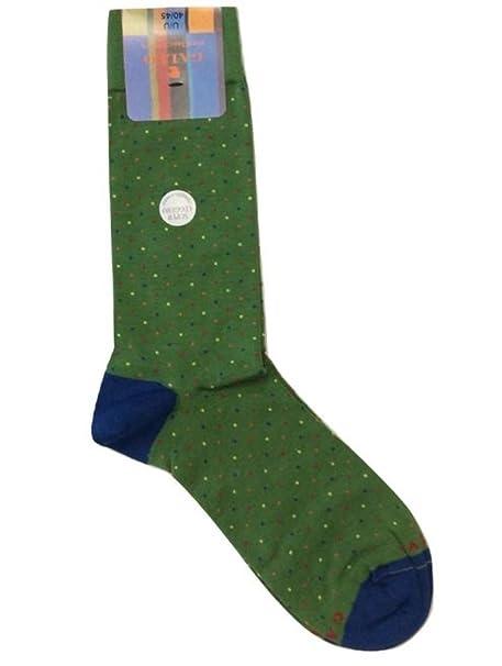 Gallo - Calcetines cortos - para hombre Verde Verde Con Micropois Multicolor 40-45