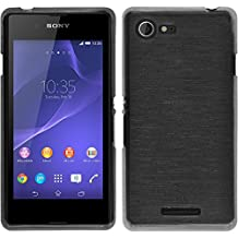 Silicone Case for Sony Xperia E3 - brushed silver - Cover PhoneNatic Case
