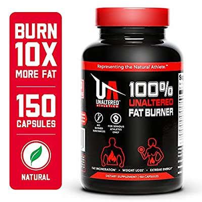 UNALTERED Fat Burner, Extreme Weight Loss Pills, All Natural, Forskolin Powder, Caffeine 200mg, Green Tea Extract, N-Acetyl L-Carnitine, 150 Capsules, 30 Servings, Best Seller Diet Pills,