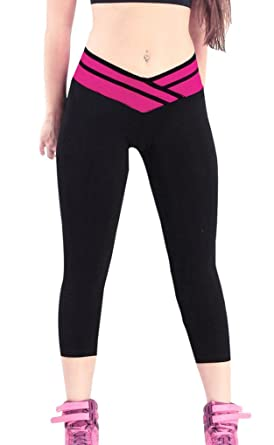 iLoveSIA® Leggings de Sport Femme Pantalons Fitness Jogging Yoga ... 77a95dd0e5e