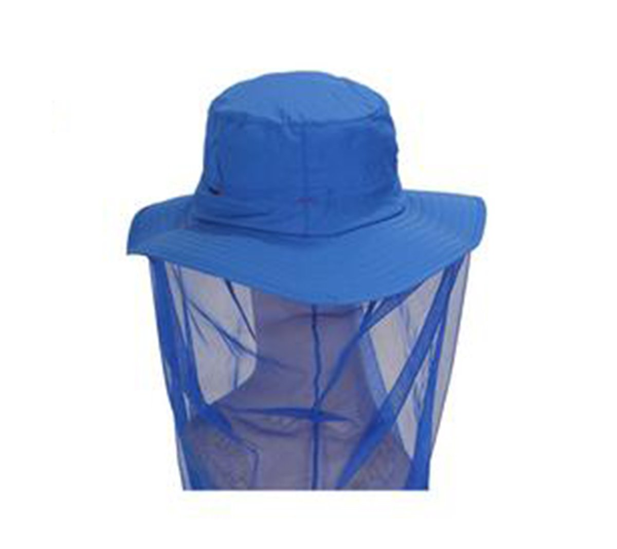 Blue Outdoor Anti-mosquito Mask Hat with Head Net Mesh Face Protection