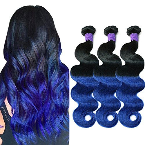 MAOYUAN-8A-Ombre-Mink-Brazilian-Virgin-Hair-Body-Wave-Blue-Purple-Ombre-Human-Hair-Weave-3-Bundles-300g-130-Density-Hair-Extensions