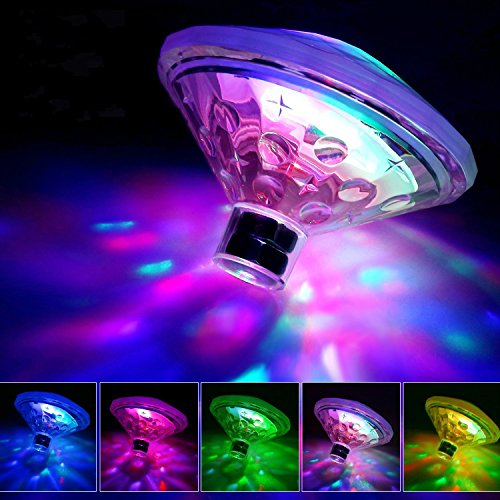 Yundabyy Waterproof Swimming Pool Lights, Baby Bath Lights The Tub(7 Lighting Modes), Colorful Bath Toys Bathtub Led Light Toys, Floating Pool Light Bulb Pool, Pond, Hot Tub Party Decorations