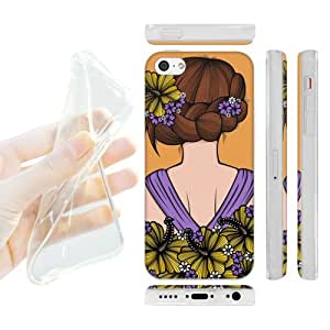 Head Case Designs Hibiscus Blooming Braids Soft Gel Back Case Cover for Apple iPhone 5c by ruishername