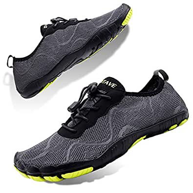 Non-Slip Men Barefoot Water Shoes for Outdoor Sport Size: 7 Grey-Green