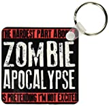 3dRose The Hardest Part About a Zombie Apocalypse Key Chains, Set of 2 (kc_193279_1)