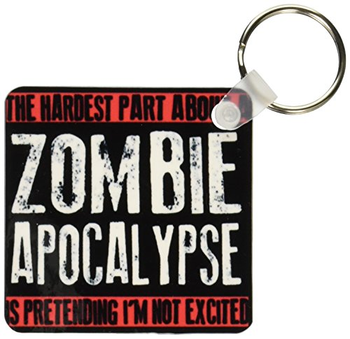 3dRose The Hardest Part About a Zombie Apocalypse Key Chains, Set of 2 (kc_193279_1)
