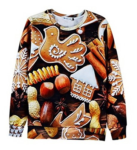 [Unisex Sweater Almond Cookies Chocolate Sweatshirt T Shirts (L)] (College Girl Halloween Costumes Creative)