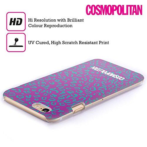 Official Cosmopolitan Violet Leopard Animal Skin Patterns Hard Back Case for Apple iPhone 4 / 4S