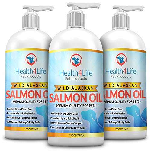 Pure Wild Alaskan Salmon Oil for Dogs, Cats, Ferrets and Horses, 100% All Natural, Supports Healthy Immune System, Heart Health, Joints, Skin & Coat, Omega 3 Fish Oil Pet Supplement 16 oz