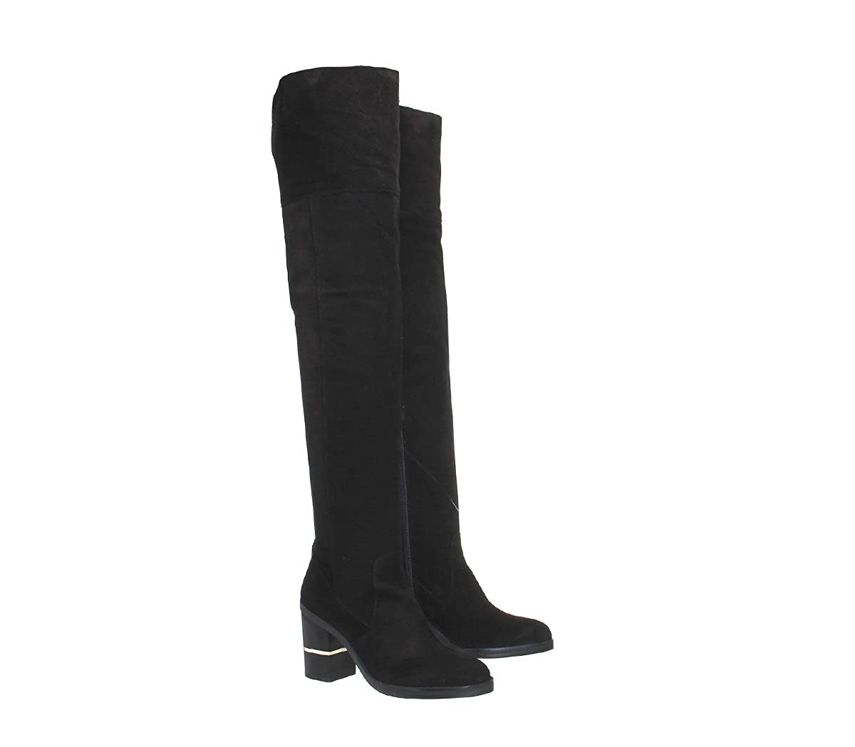5a76e0d759b Office Elemental Over The Knee Boots Black Suede - 3 UK  Amazon.co.uk   Shoes   Bags