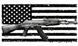ak47 window decal - American Flag Ak-47 Vinyl Window Decal - Gun Bumper Sticker - American Flag Decal - 2nd Amendment Sticker - MADE IN THE USA