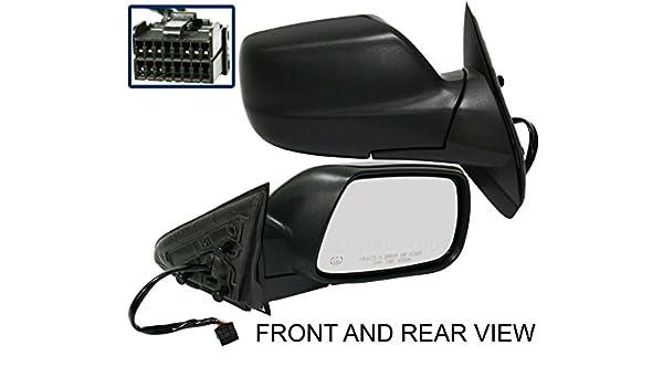Textured Black For Grand Cherokee 05-08 Passenger Side Mirror