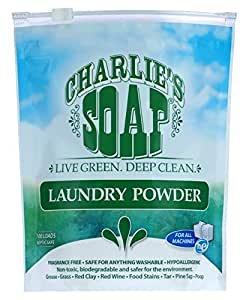 Charlie's Soap - Fragrance Free Laundry Powder - 100 Loads (One 100-load Bag, 100 Total Loads)