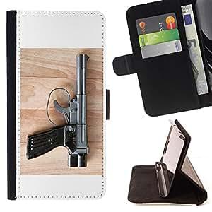For Samsung Galaxy S6 EDGE - pistoletnyy kompleks /Funda de piel cubierta de la carpeta Foilo con cierre magn???¡¯????tico/ - Super Marley Shop -