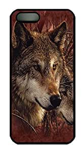 Forest Wolves Custom PC Hard For SamSung Galaxy S6 Phone Case Cover Black