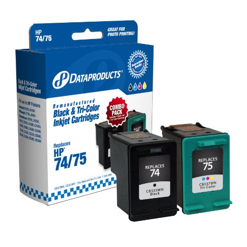 Dataproducts DPC7475 Remanufactured Ink Cartridge Replacement for HP #74/75 (Combo Pack – Black and Tri-Color), Office Central