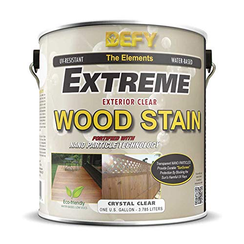 DEFY Extreme 1 Gallon Exterior Wood Stain, Crystal - Stain Wood Epoxy