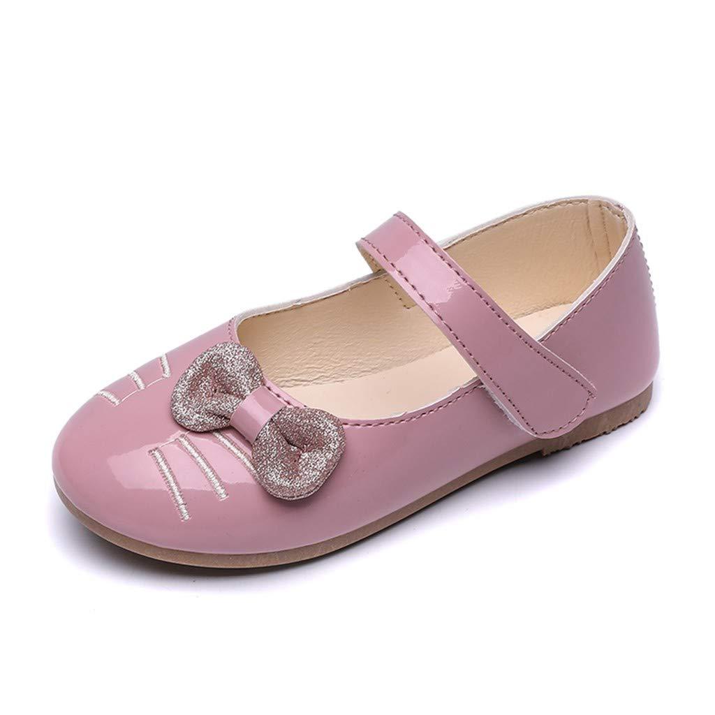 Tronet Kids Sandals Baby Boys//Girl,Children/Kids Girls Cat Cartoon Bowknot Princess Dance Single Casual Shoes