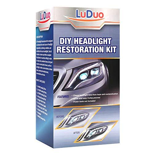 Headlight Restoration Polishing kit, Headlamp Brightener, LuDuo