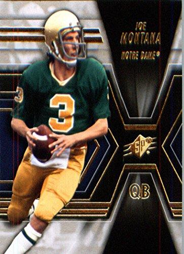 2014 Upper Deck SPX Football Card # 20 Joe Montana - Notre Dame Fighting Irish