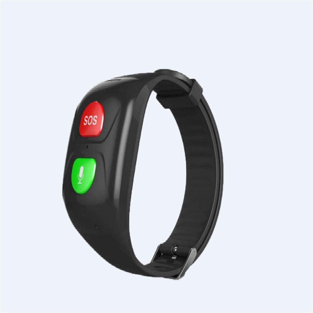 Pulseras Inteligentes para Personas Mayores SOS Pulsera GPS Smartband Frecuencia cardíaca Presión sanguínea Banda Inteligente Actividad Fitness Bandas … (Negro)