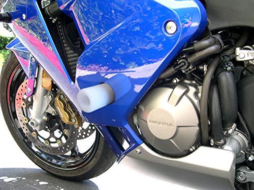 2005 Cbr600rr Frame Sliders - Shogun 2003 2004 2005 2006 Honda CBR600RR CBR600 White Frame Sliders - 750-3300 - MADE IN THE USA