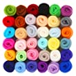 SOLEDI Fibre Wool Yarn Roving, Set of 36 Colors
