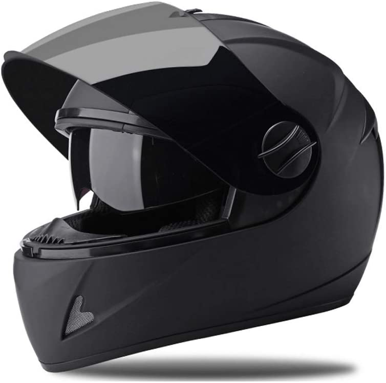 Couleur : Rouge YUEMS D/évoilement du Casque Moto en Plein air Noir Anti-Brouillard Miroir Casque int/égral pour Hommes et Femmes Super Protection