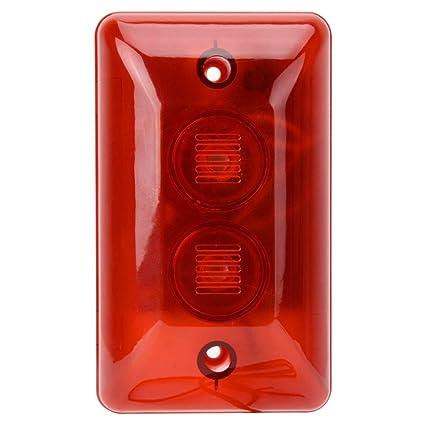12V Alarma por cable, Sirena de sonido con luz intermitente ...