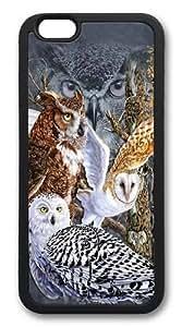 iPhone 6 Case,Find 11 Owls TPU Custom iPhone 6 Case Cover Black