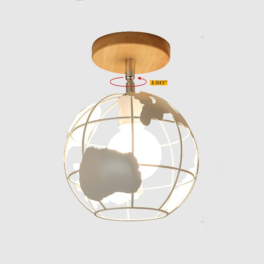 Ceiling Lights YXGH- Japanese-Style Simple Entrance Small Northern Europe Log Aisle Light Corridor Stairs Cloakroom Bay Window Balcony Home Fixture Children's Ceiling lamp