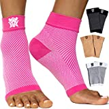 Bitly Plantar Fasciitis Socks (1 Pair) Premium Ankle Support foot Compression Sleeve (Small, Pink)
