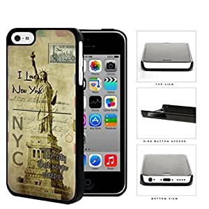 Statue Of Liberty Postcard New York Hard Plastic Snap On Cell Phone Case Apple iPhone 5c