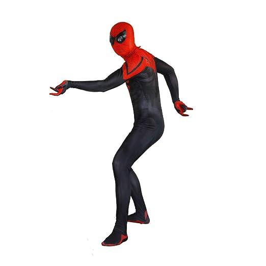 KYOKIM Traje Negro De Spiderman Cosplay De Halloween Traje De ...