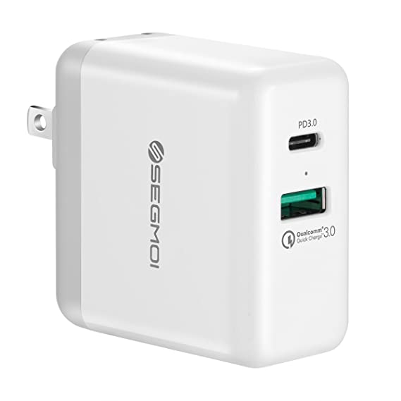 info for c7c0a f40f6 USB C Charger with 27.6W USB-C PD Power Delivery 3.0 & 18W Quick Charge 3.0  Port Dual USB Wall Plug Charging Block Cube for iPhone X/8/7/6/5s/6s Plus  ...