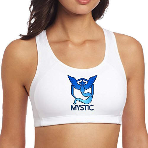 TIKE Women's Mystic Team Logo Pokemon Go Running Waistcoat White Size - Size Guide Burberry