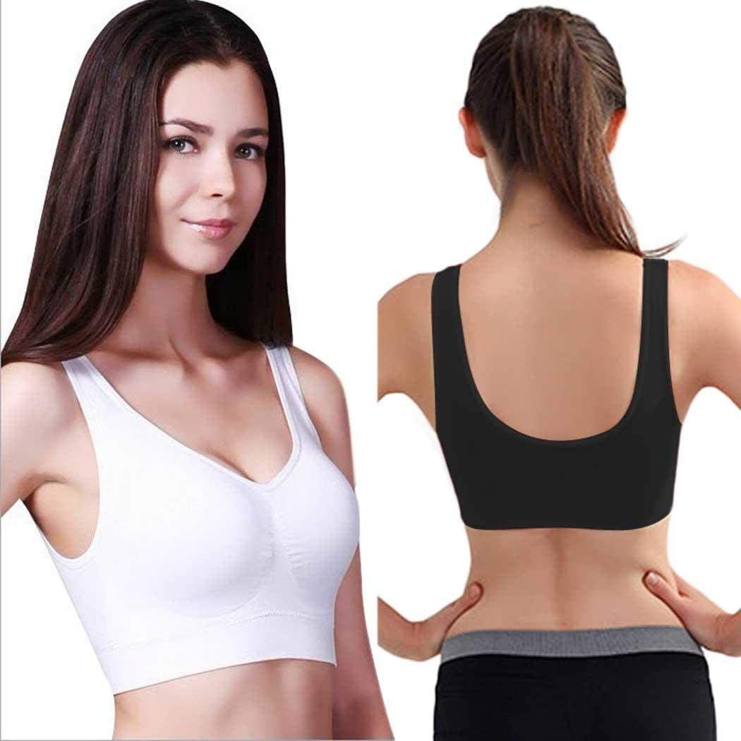 Yangiug Seamless Sports Yoga Style Bra Crop Top Vest Comfort Stretch Bras Shapewear