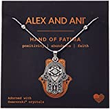 Alex and Ani Hand of Fatima III Necklace, Rafaelian Silver, Expandable